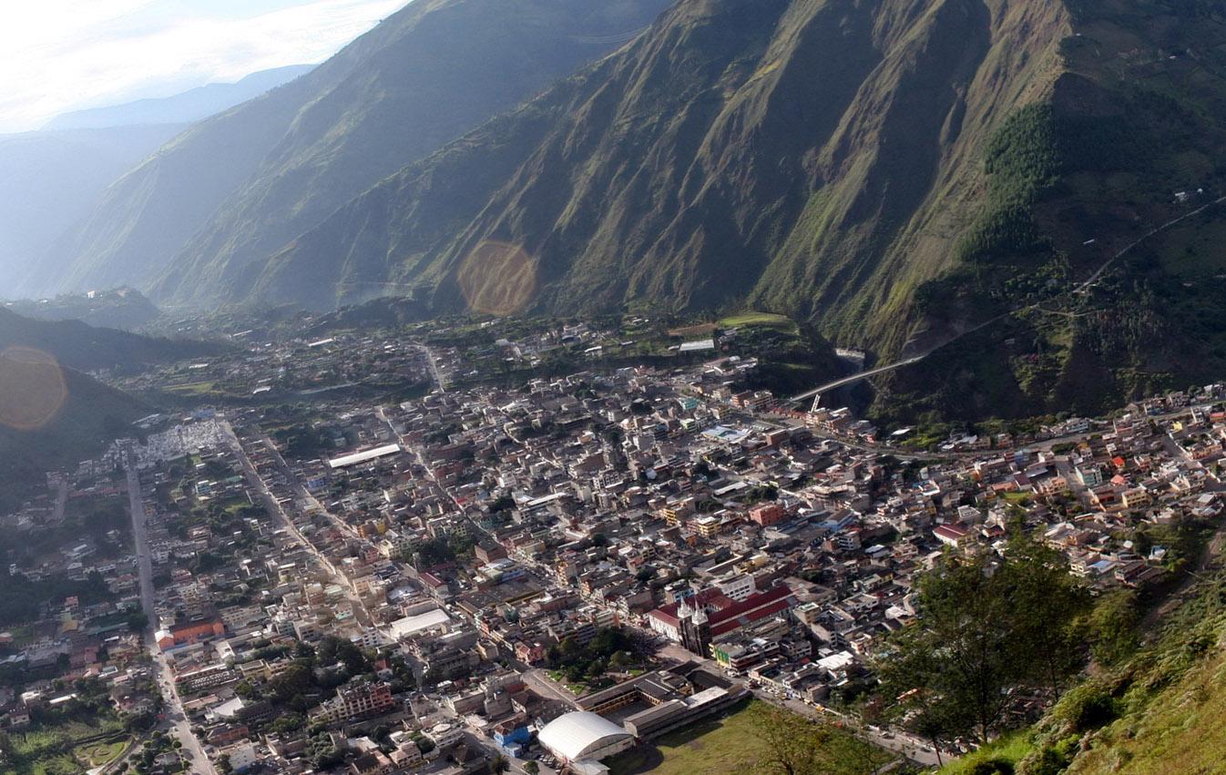 Баньос - город в горах Эквадора
