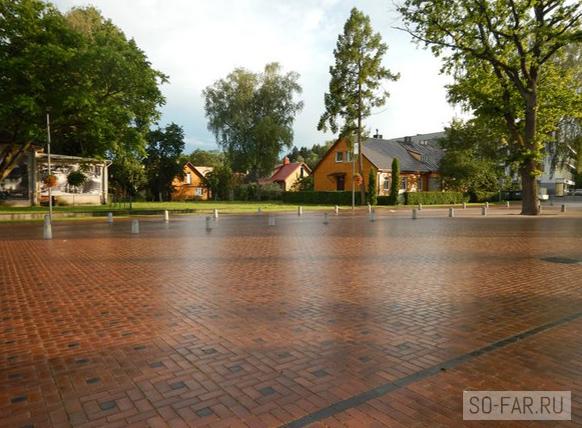 Площадь в Бирштонасе, фото