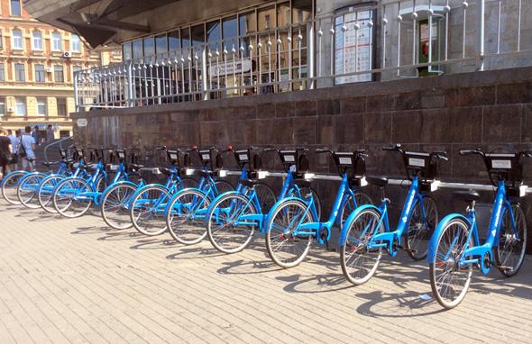 В Петербурге появились общественные велосипеды