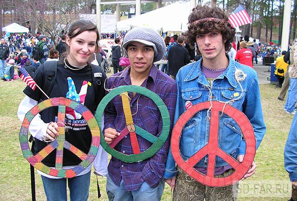 hippies, foto