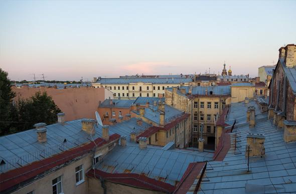 Романтическое свидание на крыше в Санкт-Петербурге