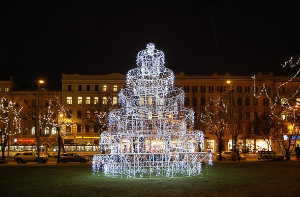 В Риге скоро откроется фестиваль рождественских елок