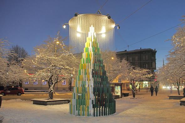 Новый год, елка в Риге