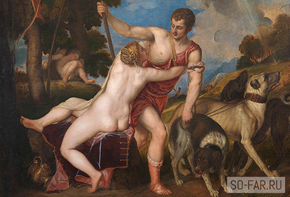 Venera i Adonis, Titian, Prado, foto