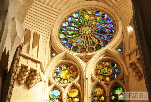 Sagrada Familia vitrazhi, foto