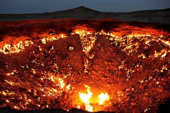 кратер Дарваза, Врата ада