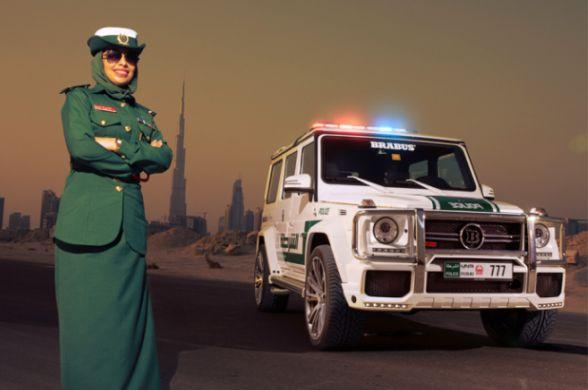 Дубаи, полиция, фото