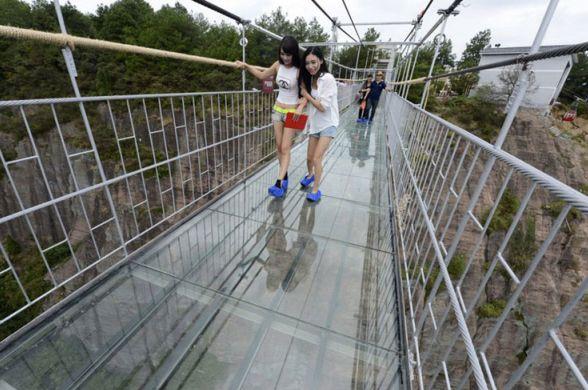 Китай, стеклянный мост