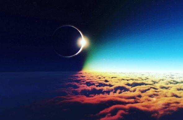 Американцам из Аляски показали солнечное затмение в полете