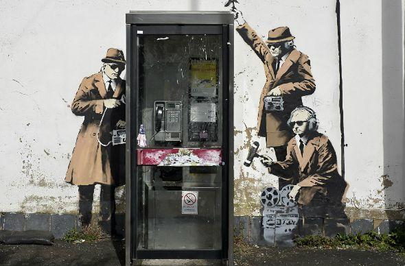 В британском Челтнеме уничтожили ценнейшее граффити Бэнкси
